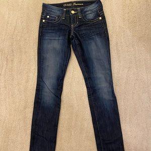 GUESS Dark Wash Skinny Jeans